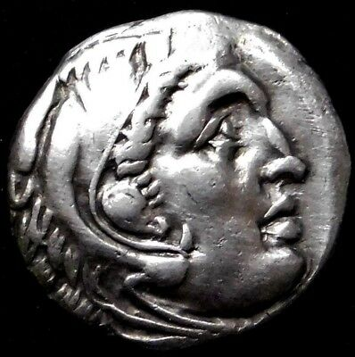 Alexander the Great. Stunning Drachm. Ancient Greek Silver Coin.