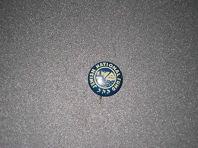 Vintage PINBACK- JEWISH NATIONAL FUND -JNF-KKL- Land in Israel -0.66 inch BUTTON