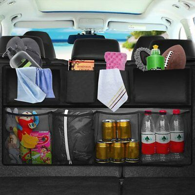 Multifunction Mesh Pocket Hanging Boot Car Seat Tidy Storage Organiser Black UK