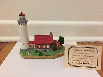 Harbour Lights - Tawas Point, Michigan - 1994 edition w cert of authenticity