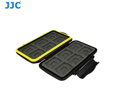 JJC Anti-Shock Water-Resistant Memory Card Case for 12 X SD 12 X Micro SD Cards