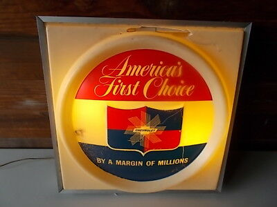 Vintage America's First Choice By A Margin Of Millions, Chevrolet Light Up Sign