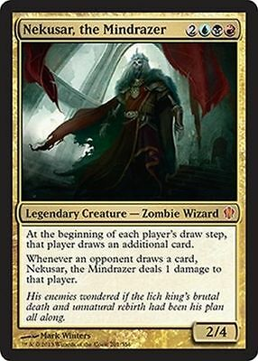 1x NEKUSAR, THE MINDRAZER - Rare - Commander - MTG - NM - Magic the Gathering