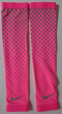 Nike Dri-Fit 360 Arm Sleeves 2.0 Pink/Silver Size Adult S/M New