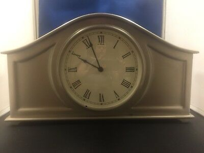 Silver Pottery Barn Desk Clock For Decoration Only
