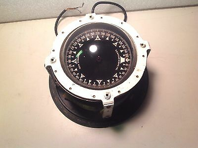 Vintage Es Ritchie Sons Marine Compass Nautical Boat Navigation