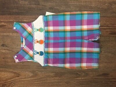 smocked newborn shortall