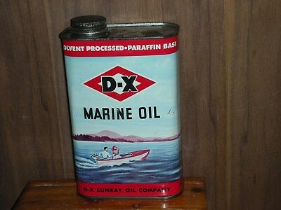 DX outboard oil can 1 US. quart empty     grate graphics                   4