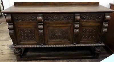 Antique 17th century style sideboard gothic jacobean