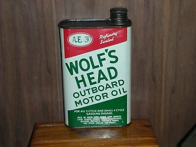 Wolfs Head outboard oil can 1 US. quart empty                 5