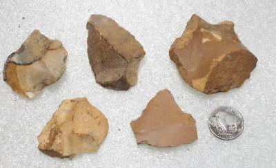 five different tools Neanderthal Mousterian ca. 50 000 BC