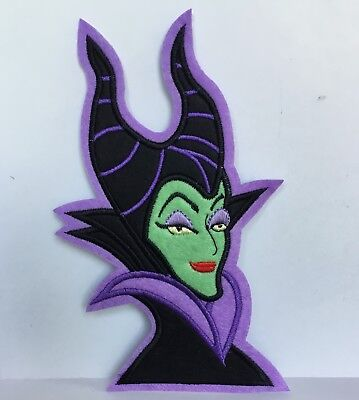 Disney Large Maleficent Villain Character Embroidered Appliqué Patch Sew Or Iron