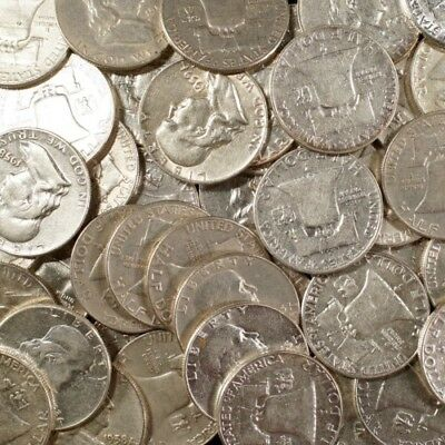 Franklin Half Dollars , 90% Silver Coin Lot, Circulated, Choose How Many!
