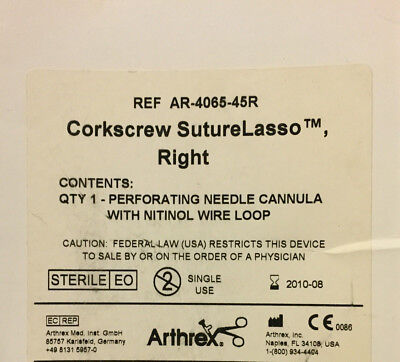 Arthrex Ref: Ref: AR-406 Right nitinol wire loop (x)