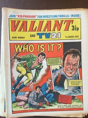 J1 Rare Comic Valiant And Tv21 1972 August 5th