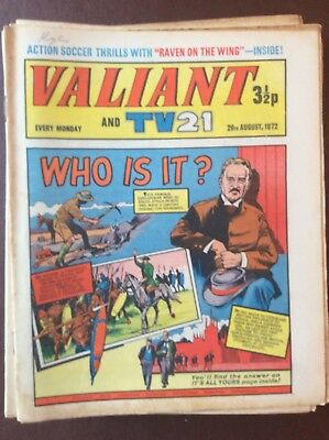 J1 Rare Comic Valiant And Tv21 1972 August 26th