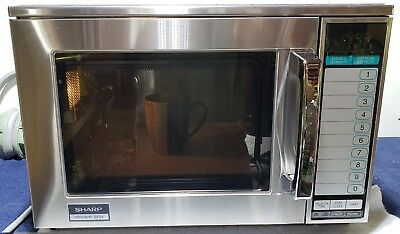 Sharp Commercial Microwave 1200 Watts Model 1200W-R-22GV,Nice Oven,Very Clean