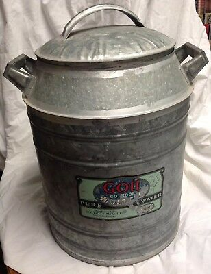 Antique Vintage Galvanized Gotkool Water Can By Gott, Winfield, Kansas