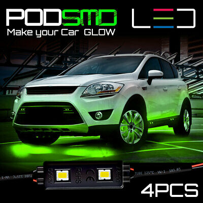 LED Underbody Rock Lights Under Car GREEN Neon Accent Glow for Toyota 4Runner