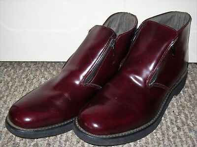 NOS VTG 1960s STUART McGUIRE OXBLOOD PATENT LEATHER CHUKKA ANKLE DRESS BOOTS 11D