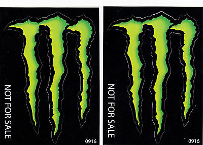 """Monster Energy Drink Stickers (5"""" X 3.75"""") lot of 6"""