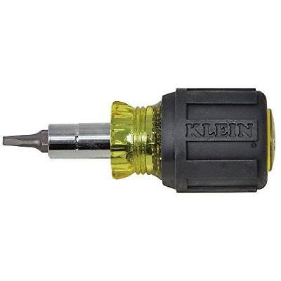 Klein Tools 32562 Stubby Multi-Bit Screwdriver/Nut Driver,#1 and #2 Square