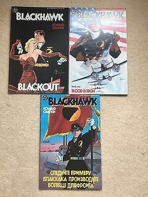 Blackhawk Blood, Red Snow & Iron Blackout Graphic Novel / Cartoon Howard Chaykin