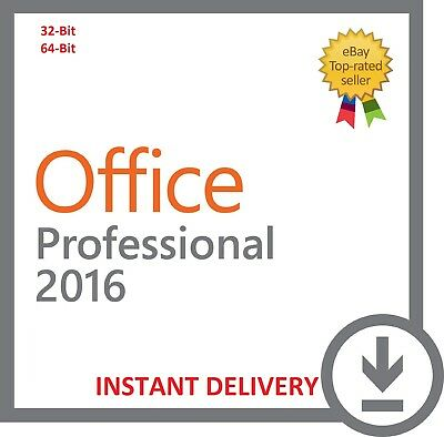 Microsoft Office 2016 Professional Plus Key Office Pro Plus 32/64 Bit Full