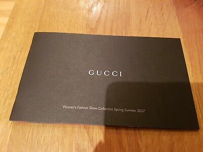 Gucci Women's Fashion Show Collection Spring Summer 2017 Brochure