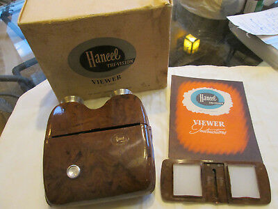 Mid Century Modern Haneel Tri Vision Viewer with Box & Paper lot S