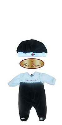 Unisex Baby Velour Cotton Blend Layette Footie with Matching Hat