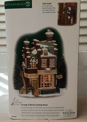Department 56 Dickens Village Scrooge & Marley Counting House New in Box-Retired