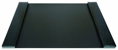 DURAPAD Executive Desk Pad with Faux Leather Side Panels, 19 x 30 Inch, Black