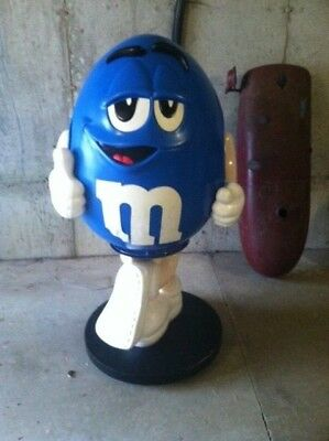 Rare 1997 Large Blue Peanut M&M Candy Store Display Mars Stand On Wheels 4 feet