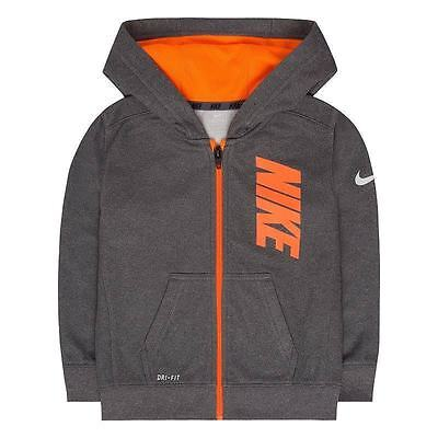 Nike 86B217-G1T Therma-FIT Fleece Logo Graphic Hoodie Kids Youth Size 4 Gray