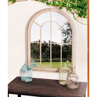 Sunjoy Round Top Outdoor Garden Mirror with Antique Finished Metal