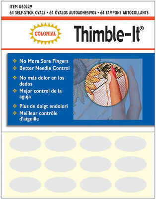 Colonial Needle Co Leather Thimble Pad 1 Sheet of 12 Pads
