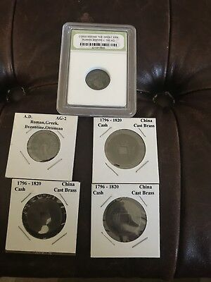 Ancient Coin Set - 5 coins from Rome and China