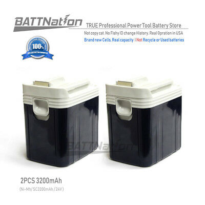 2x 24V 3200mAh 3.2AH NiMh Slide Style Battery for MAKITA BH2420 BH2430 BH2433