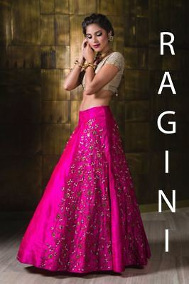 Bollywood Designer Wedding Dress Ethnic Lehenga Indian Bridal Party Wear RIN
