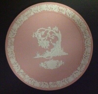 Wedgwood Valentine's Day Plate  Pink Jasperware Plate,1983  In Box w/ papers