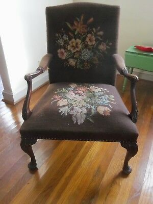 Antique Ball and Claw Chair