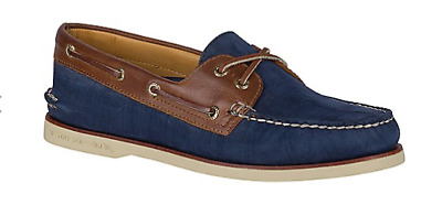 Sperry Gold A//O 2-Eye Orleans Charcoal 12