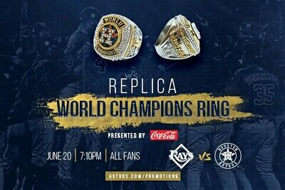 Tampa Rays vs Houston Astros Ticket, June 20, 2018 Championship Ring Giveaway