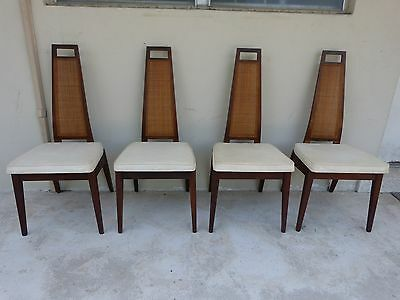 4 Mid Century Modern Exaggerated Back Sculptural Dining Chairs