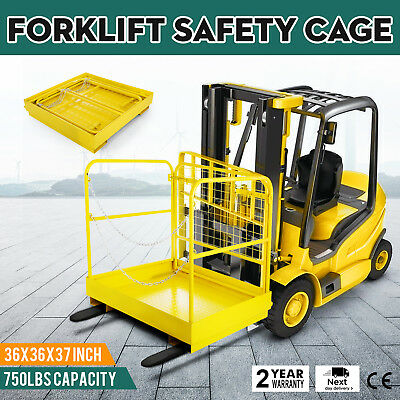 "Forklift Safety 36""x36"" Cage Work Platform Basket Aerial Fence Rails Lift"