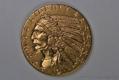 1911 $5 Dollar Indian Head Half Eagle GOLD Coin No Reserve GOLD LooK | 0217