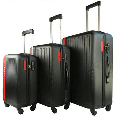 3 PC Luggage Set Lightweight Suitcase TSA Lock Carry On Bag Hard Case