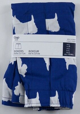 NIP Mens GAP Boxers 100% Cotton Scottie Porcelain Dog - 532328