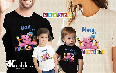 Pocoyo Personalized Custom Birthday Party Boy Shirt Family Shirts